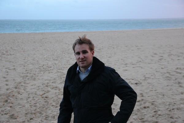 On the beach….