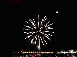 Bordeaux fête le fleuve, feu d'artifice