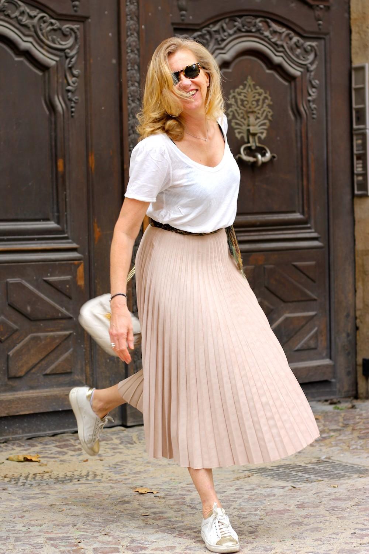 le cas pineux de la jupe longue pliss e blog enfin moi mode lifestyle bordeaux