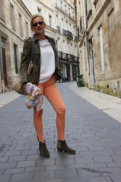 jeans-orange 6762