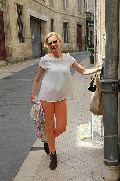 jeans-orange 6763