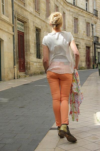 jeans-orange 6764