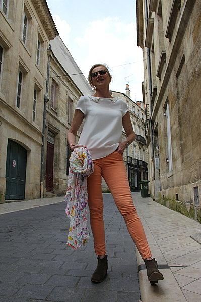 jeans-orange 6766