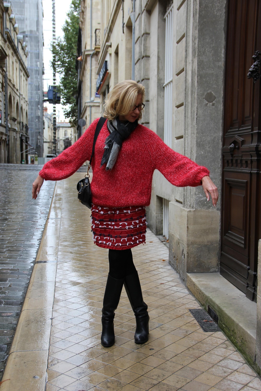 Gros Pull Rouge Tout Doux Blog Enfin Moi Mode