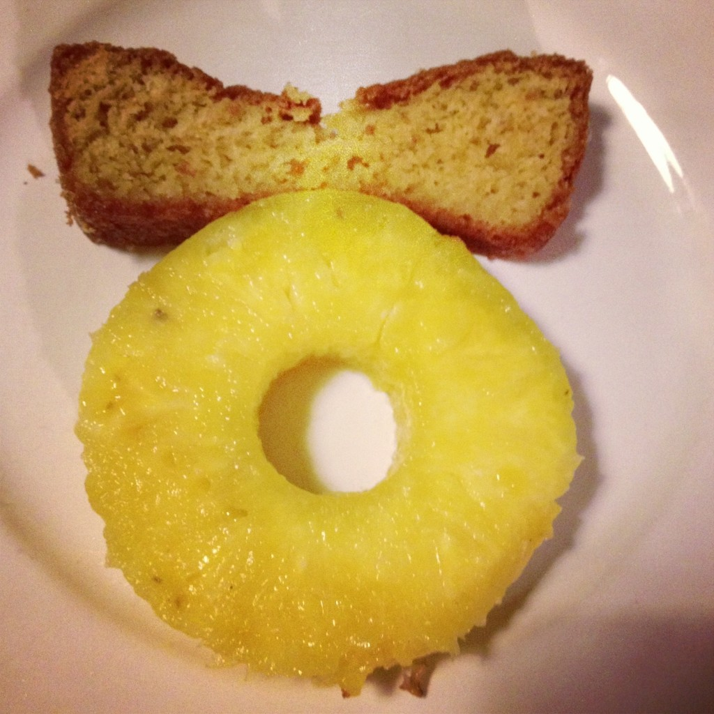 Ananas et Cake au citron Enfin moi