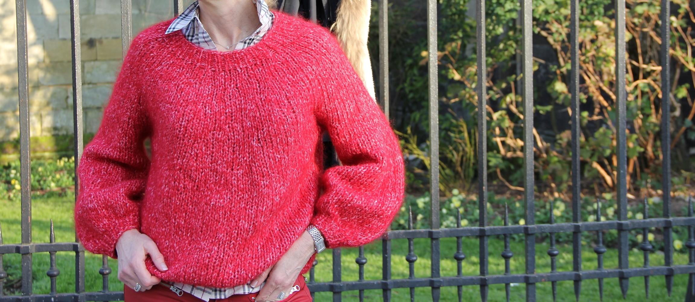 Pull rouge, de la laine sans forêt ni loup