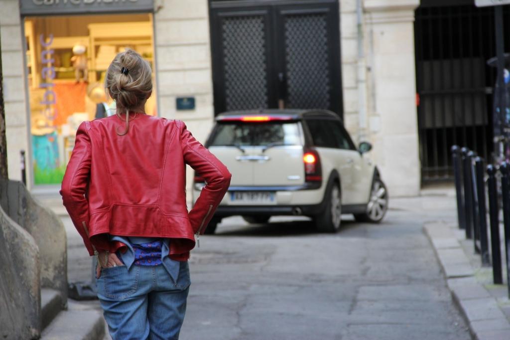 Cuir Rouge et jeans Boyfriend