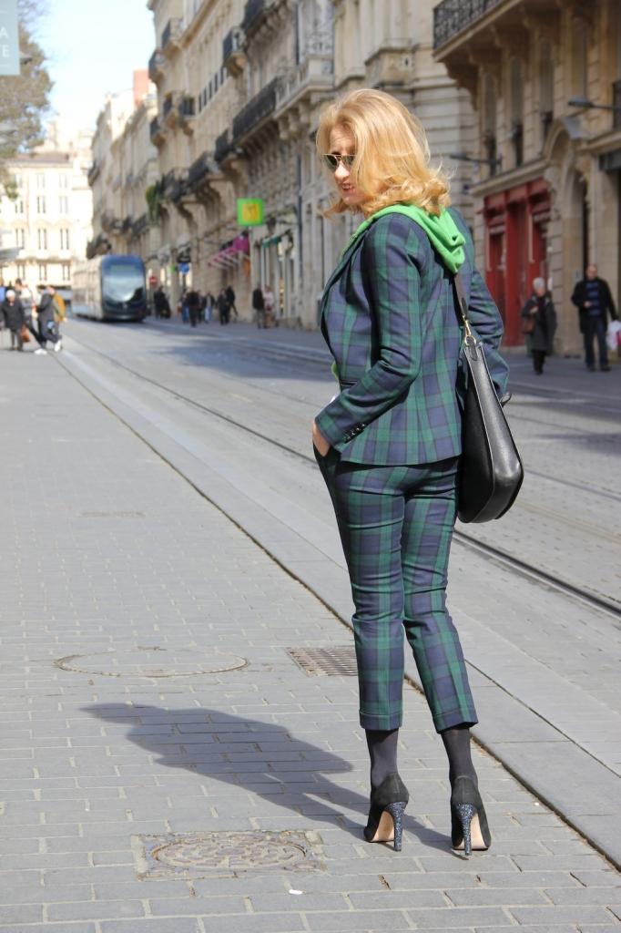 tailleur tartan Zara 2013