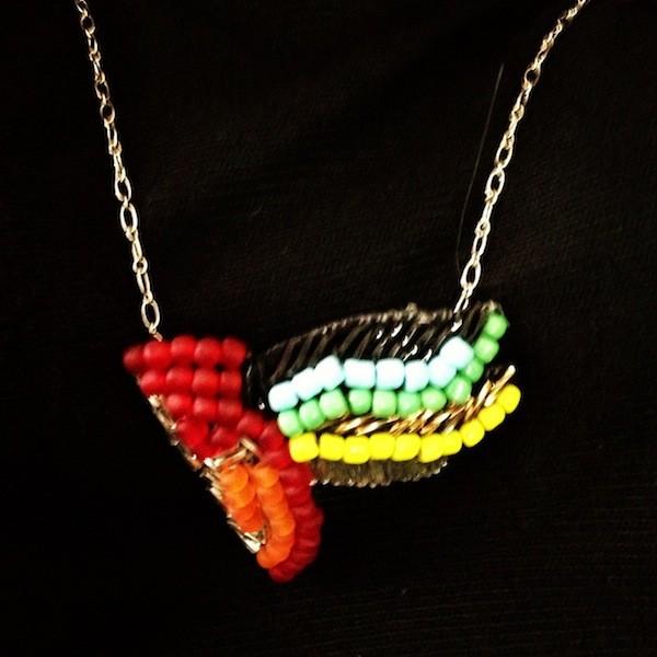 Collier oiseau DIY