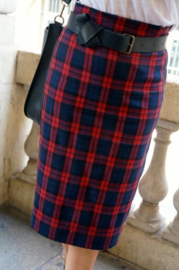 Jupe crayon en tartan Zara 2013