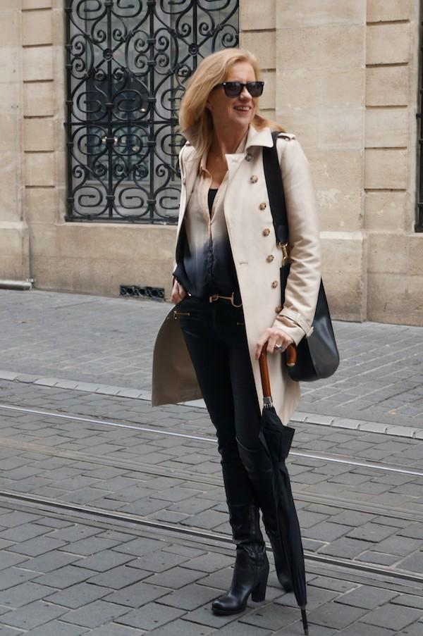 Trench Zara et Jogg Jeans