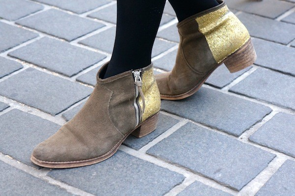 Boots glitter DIY