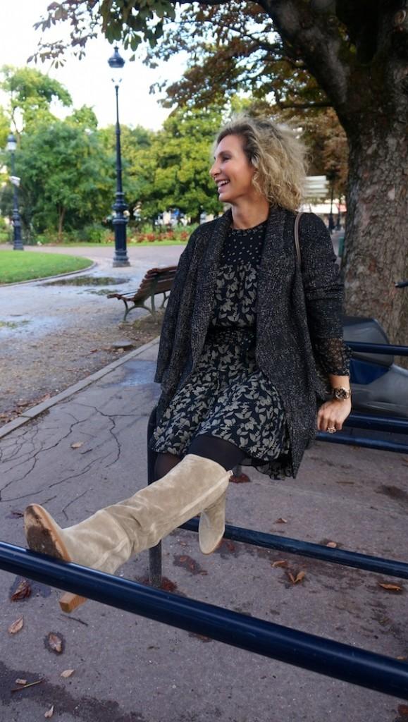 Robe, manteau, bottes Isabel Marant 2013