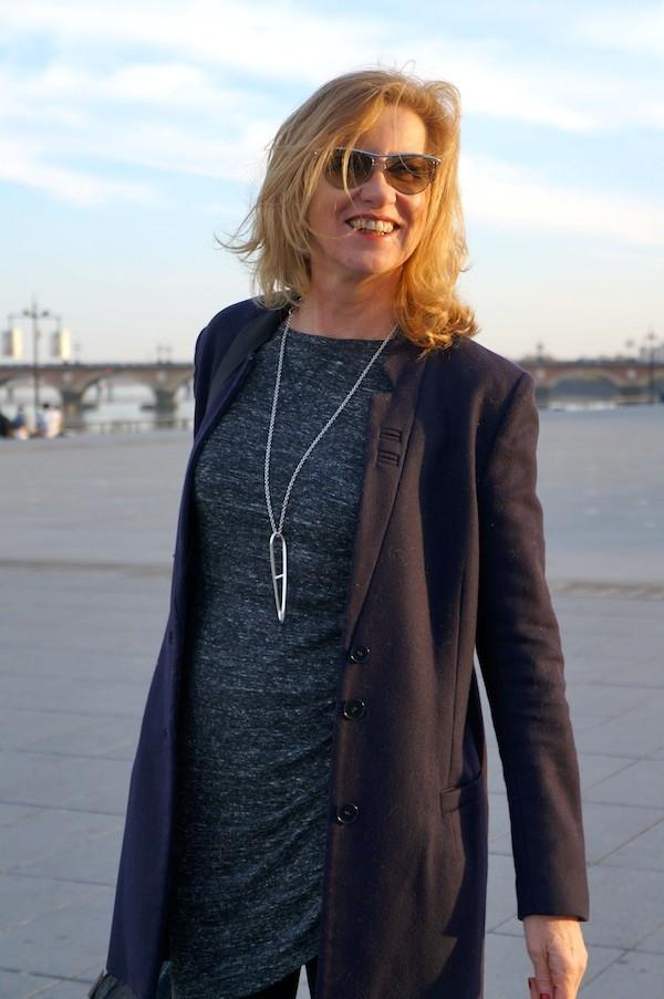 Robe TRF drapé en biais Zara