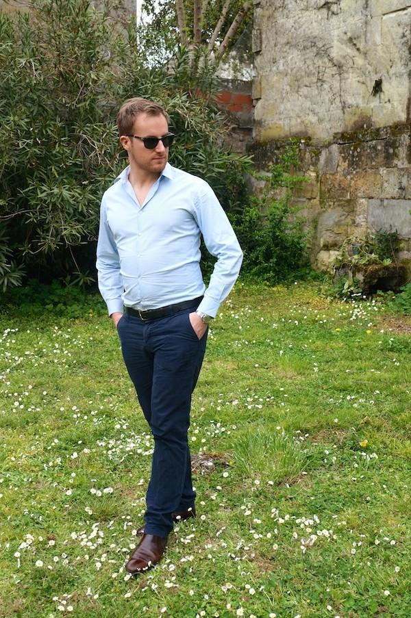 Pantalon Chino & Lunettes pliables Persol modèle McQueen