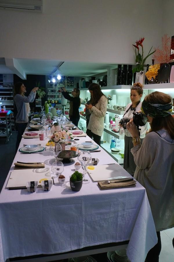 Atelier art de la table chez home by asa blog enfin moi mode lifestyle bordeaux - Dressage de table ...
