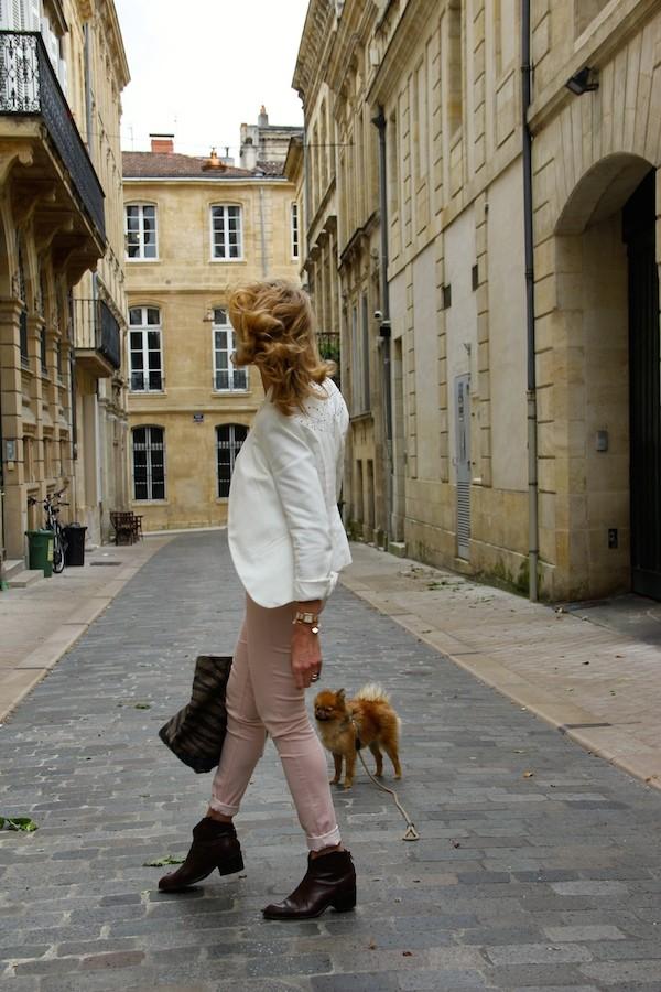 Veste Blanc clous Zara