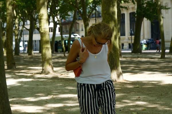 Pantalon rayures Zara - debardeur Zara