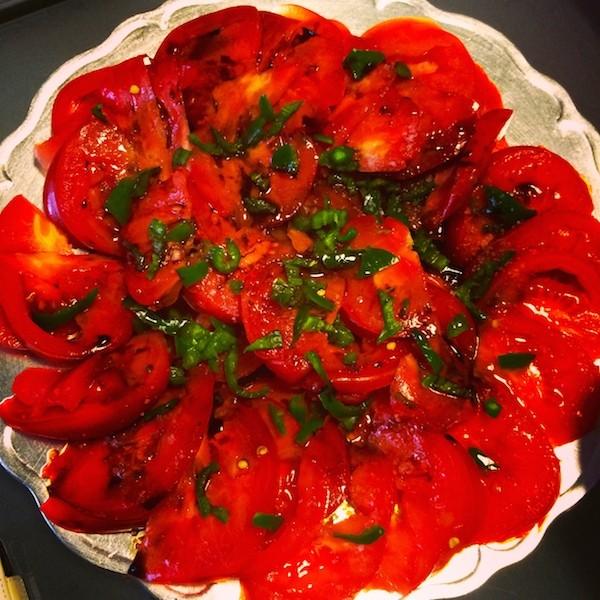 Salade tomates coeur de boeuf