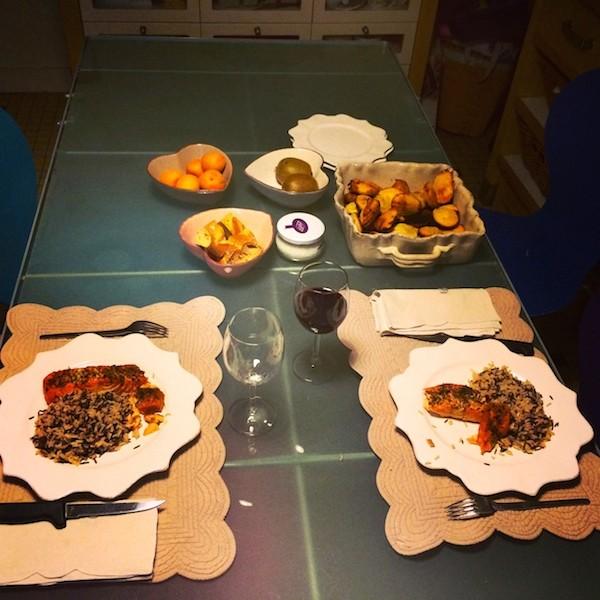 Déjeuner à la maison