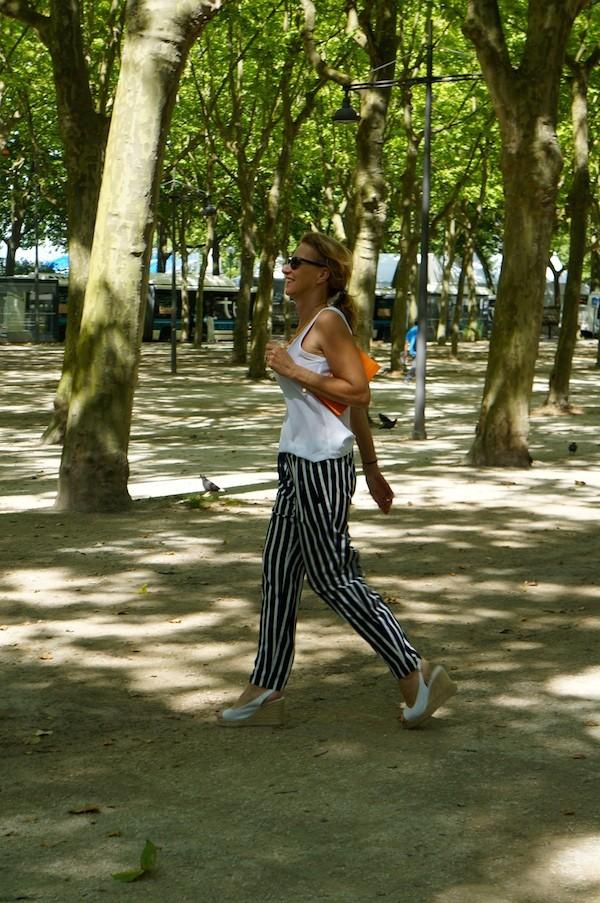pantalon Rayures larges -Top souple Zara 2014