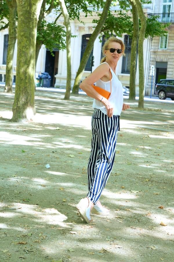 sac pochette cuir épi orange Louis Vuitton