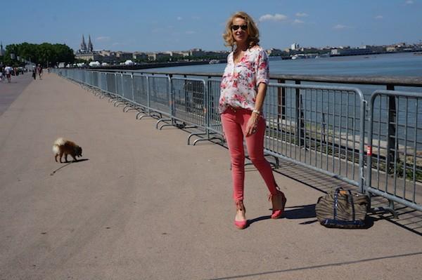 Motifs fleurs blouse Zara