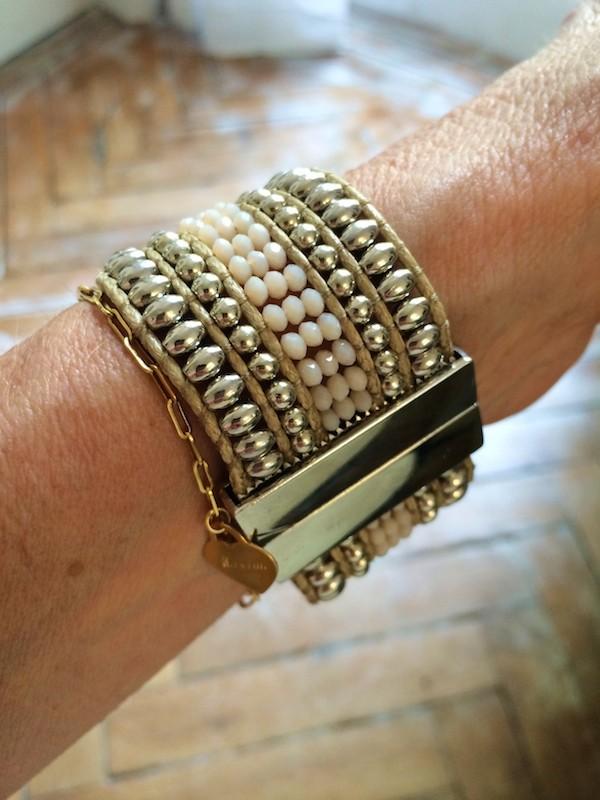 ZAOLINE Bracelet aimanté doré