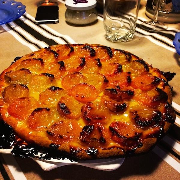 Tarte abricots caramelisés