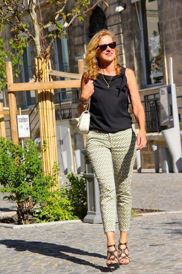 Pantalon Imprimé cravate Zara