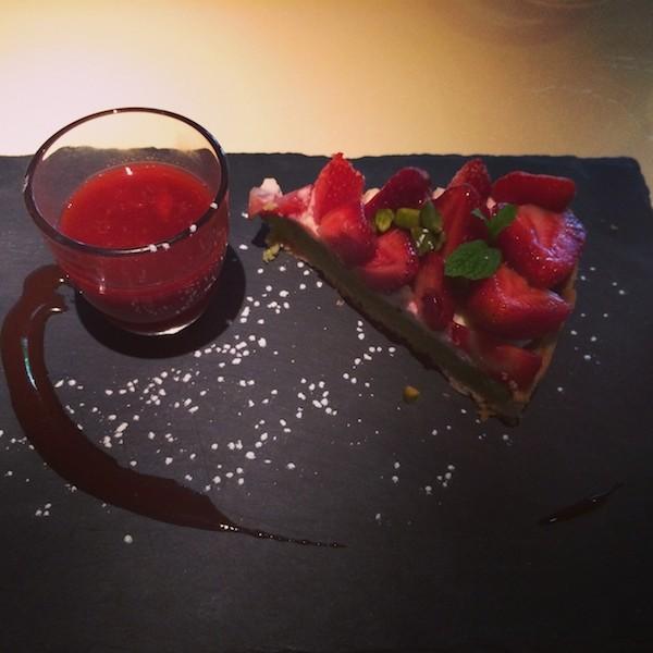 Tarte fraise pistache Mama Shelter