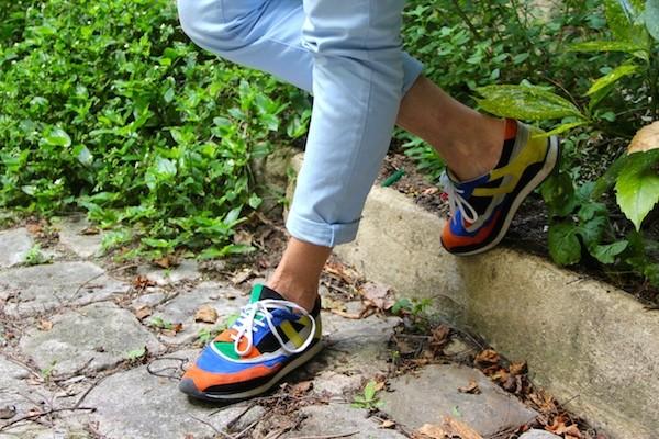 Baskets multicolore Zara