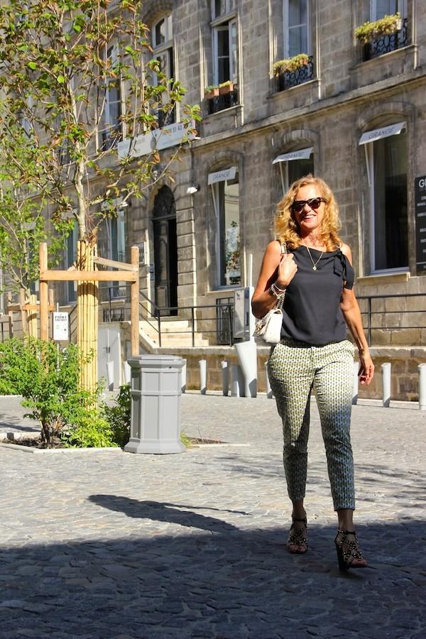 Pantalon motif chaine Zara 2014
