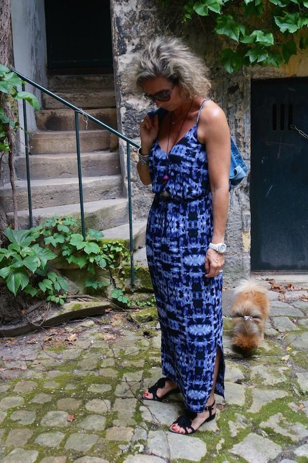 Robe longue bleue American Vintage 2014