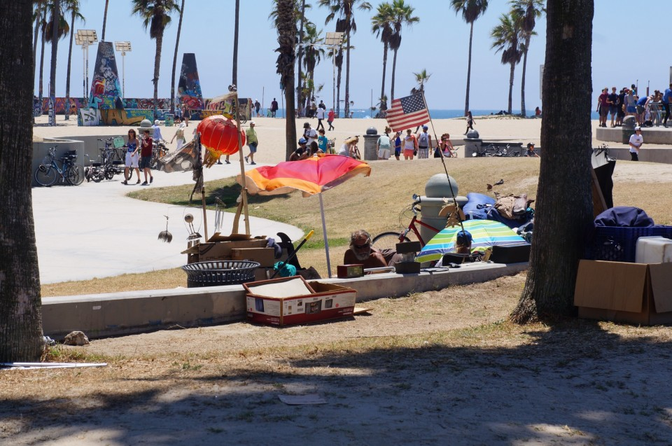 Homeless Venice beach