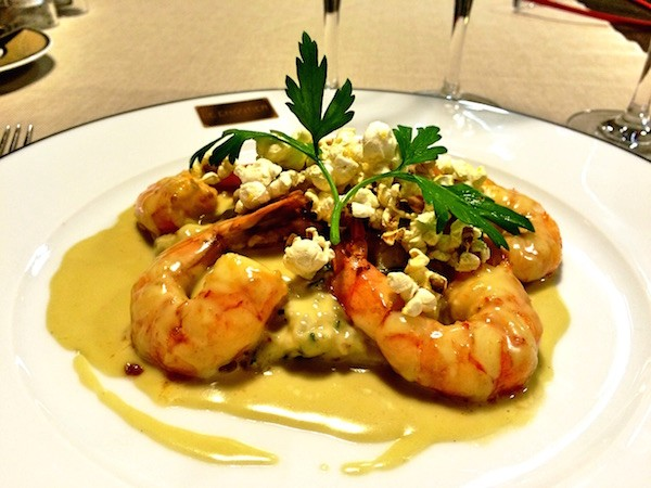 Gambas et risotto