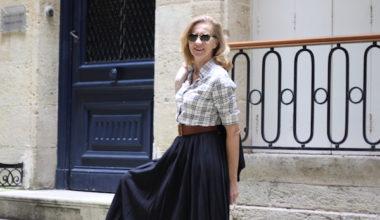 jupe plissé longueur midi