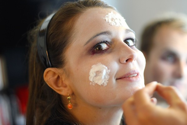make up Latex blanc