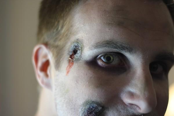 maquillage impact de balle