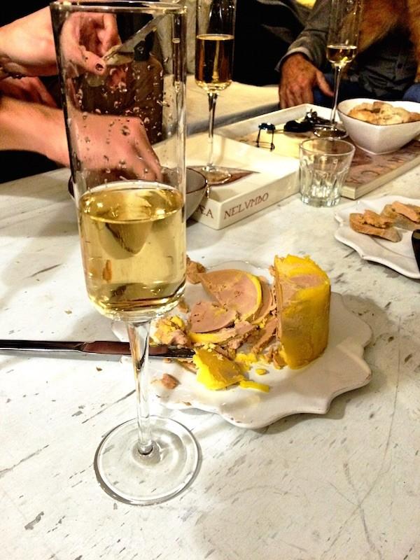 Champagne foie gras