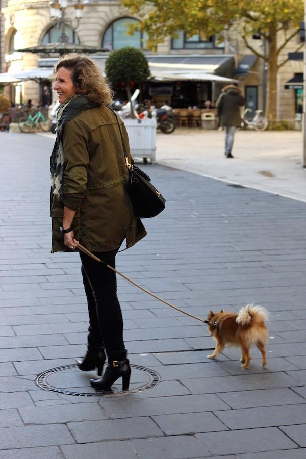 Parka legère kaki Zara