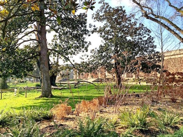 Batiment central jardin public