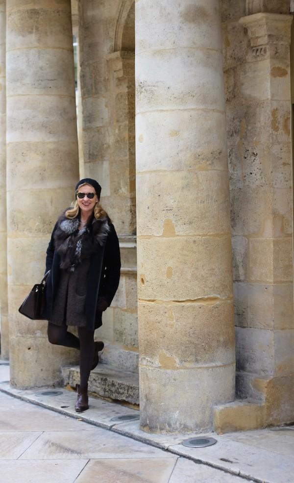 Manteau noir Zara été  2015