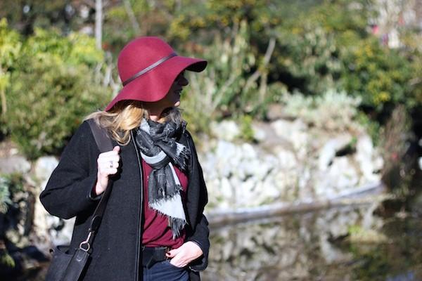Manteau noir Zara