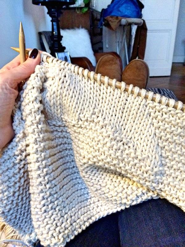 Gilet étoile tricoté main