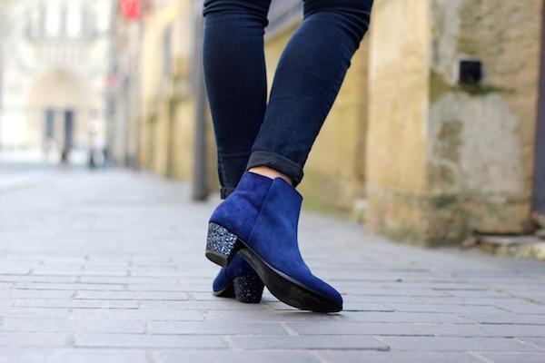 Boots Bobbies talons paillettes