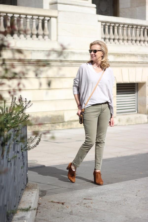 Chino kaki Zara