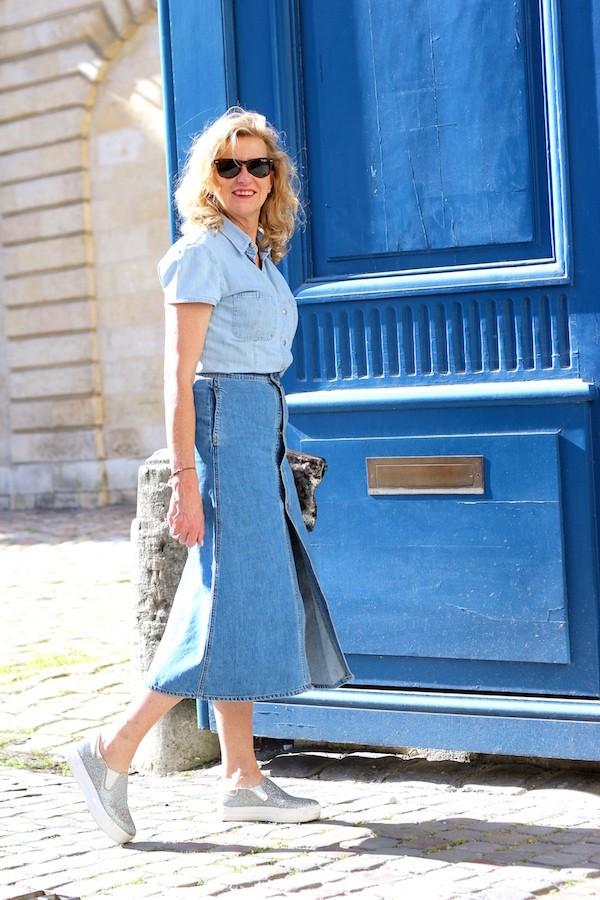 jupe denim longue Zara