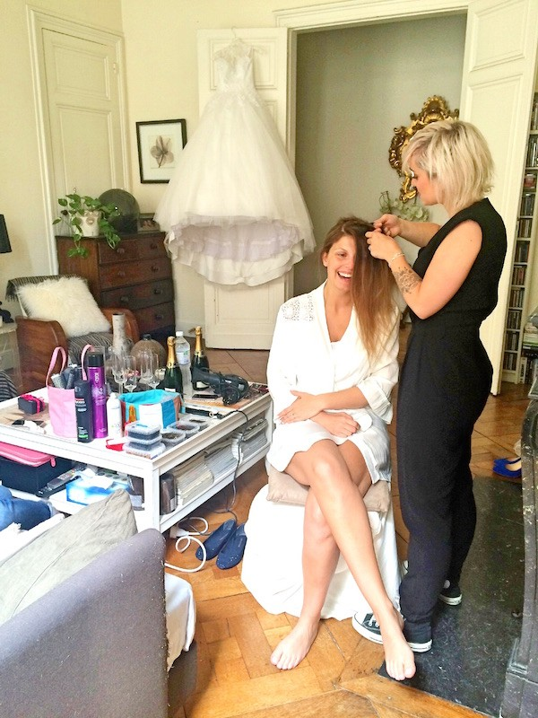 Mariage Mélanie coiffure Scoothair