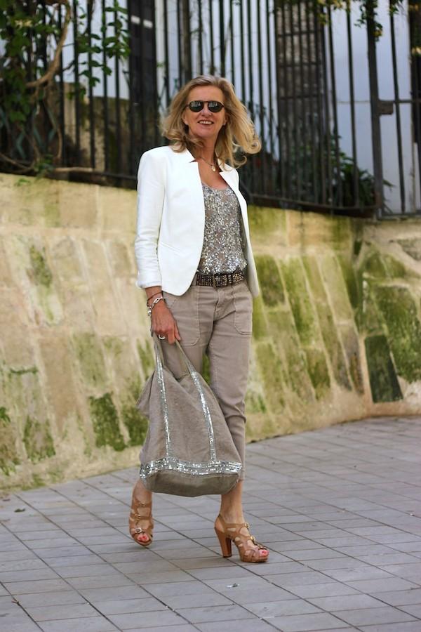 Veste Blanche à clous Zara